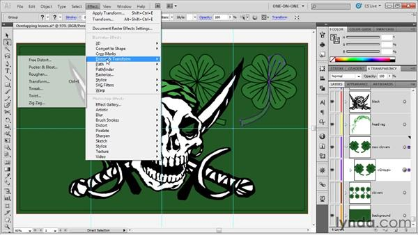 Adjusting a dynamic transformation origin: Illustrator CS5 One-on-One: Mastery