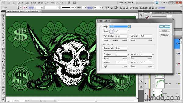 Introducing the Scribble effect: Illustrator CS5 One-on-One: Mastery