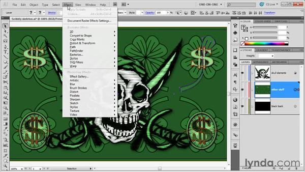 Copying effects between layers: Illustrator CS5 One-on-One: Mastery