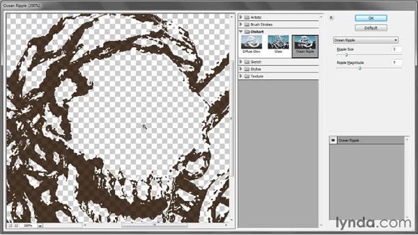 Controlling the Filter Gallery preview: Illustrator CS5 One-on-One: Mastery