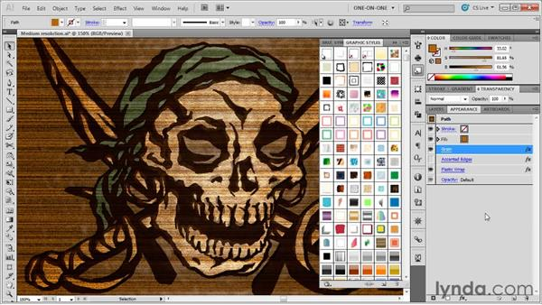 Combining and saving styles: Illustrator CS5 One-on-One: Mastery