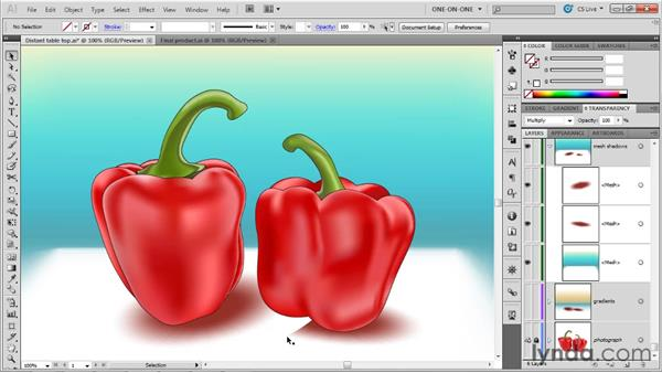 Converting a radial gradient to a mesh: Illustrator CS5 One-on-One: Mastery