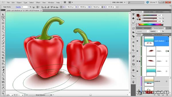 Creating credible cast shadows: Illustrator CS5 One-on-One: Mastery