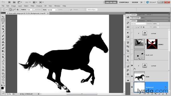 Adding wings to a horse in Photoshop: Illustrator CS5 One-on-One: Mastery