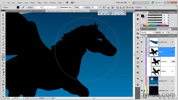 The Twirl, Pucker, and Bloat tools: Illustrator CS5 One-on-One: Mastery