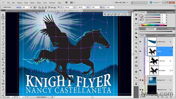 Creating and editing an envelope mesh: Illustrator CS5 One-on-One: Mastery