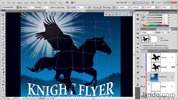 Blending an envelope into a background: Illustrator CS5 One-on-One: Mastery