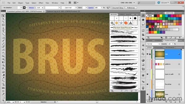 Introducing the Brushes panel: Illustrator CS5 One-on-One: Mastery