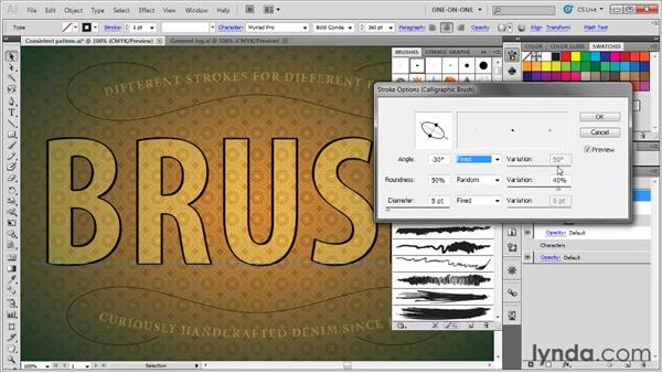 Applying and editing a calligraphic brush: Illustrator CS5 One-on-One: Mastery
