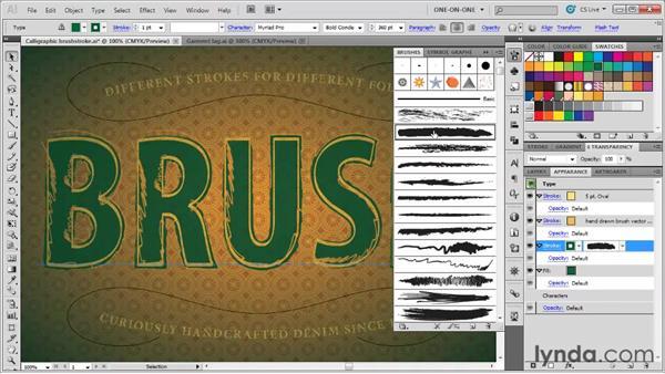 Applying and scaling art brushes: Illustrator CS5 One-on-One: Mastery