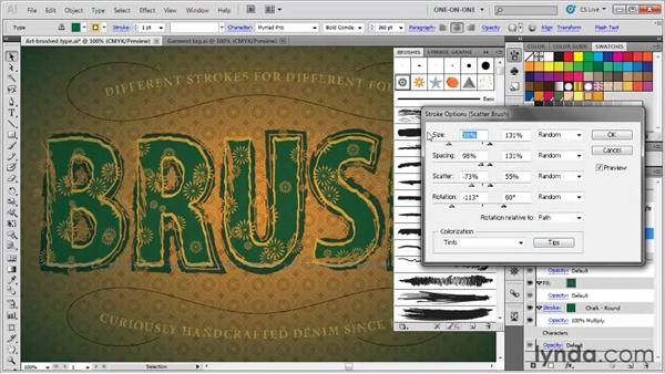 Applying and editing a scatter brush: Illustrator CS5 One-on-One: Mastery