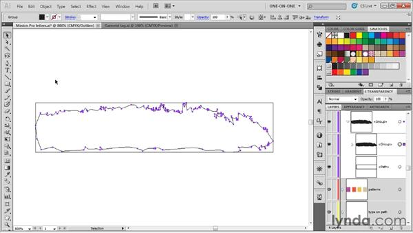 Editing the path outlines of an art brush: Illustrator CS5 One-on-One: Mastery