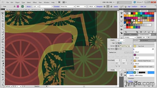 Creating and refining an art brush: Illustrator CS5 One-on-One: Mastery