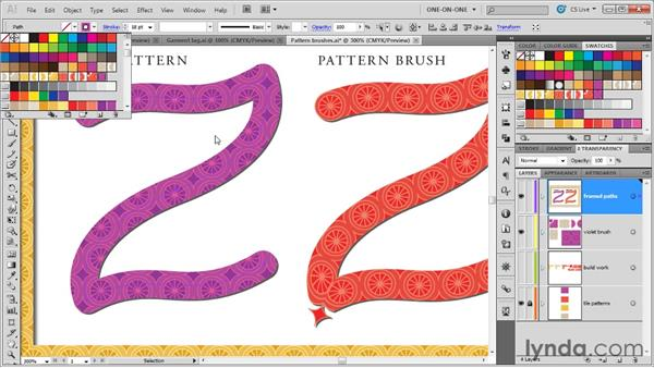 Creating a pattern brush: Illustrator CS5 One-on-One: Mastery