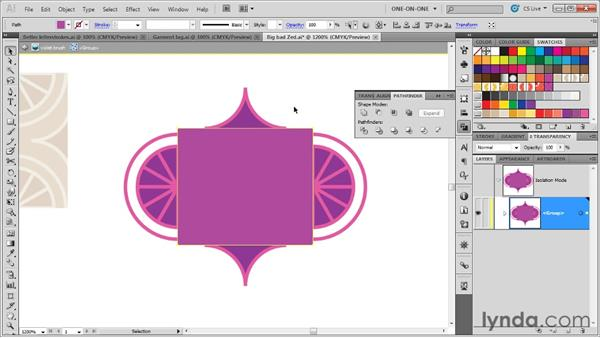 Designing the perfect side pattern: Illustrator CS5 One-on-One: Mastery