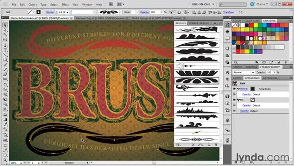 Expanding and filling brush outlines: Illustrator CS5 One-on-One: Mastery