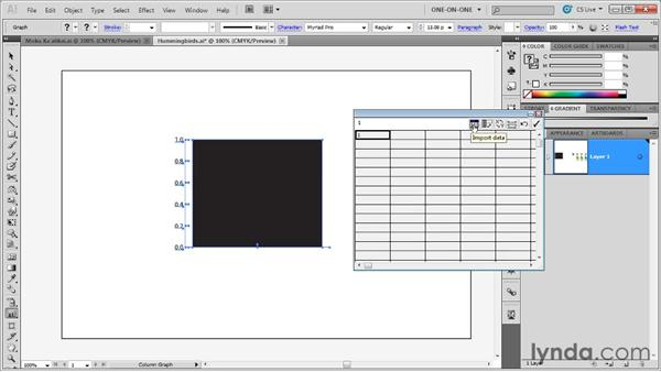 Importing and graphing data: Illustrator CS5 One-on-One: Mastery