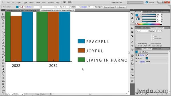 Creating and applying graph designs: Illustrator CS5 One-on-One: Mastery