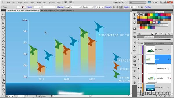 Composing and customizing a graph: Illustrator CS5 One-on-One: Mastery