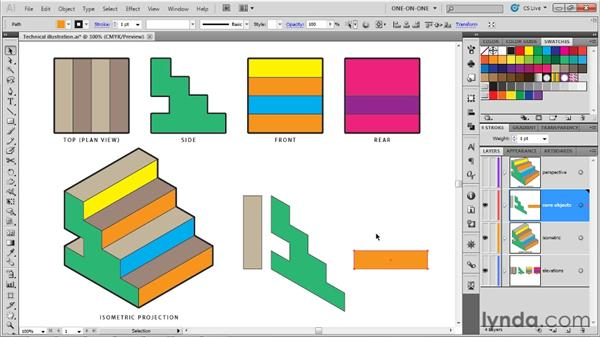 Assembling an isometric projection: Illustrator CS5 One-on-One: Mastery