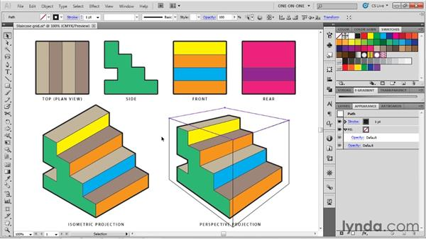 Drawing a basic perspective cube: Illustrator CS5 One-on-One: Mastery