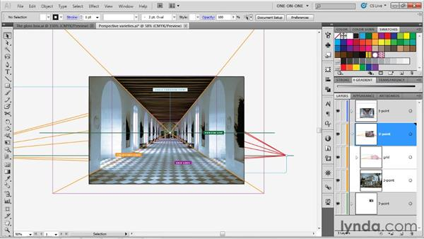 One-point, two-point, and three-point perspective: Illustrator CS5 One-on-One: Mastery