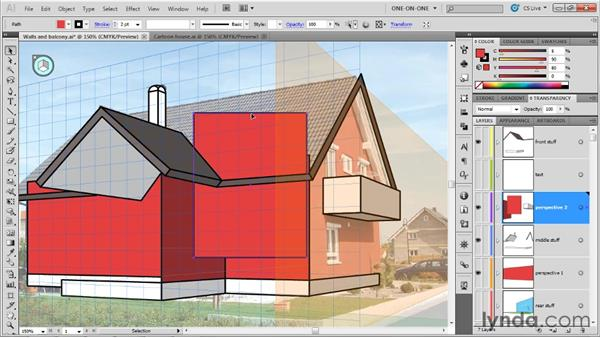 Creating a freeform shape in perspective: Illustrator CS5 One-on-One: Mastery