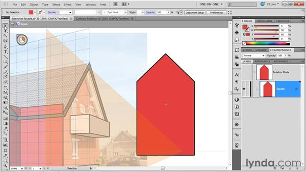 Working with perspective symbols: Illustrator CS5 One-on-One: Mastery