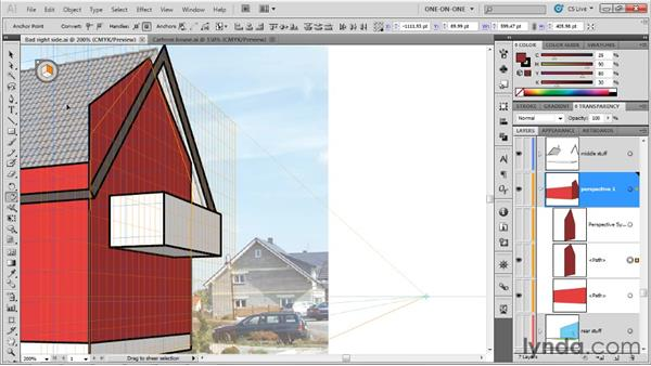Matching perspective with the Shear tool: Illustrator CS5 One-on-One: Mastery