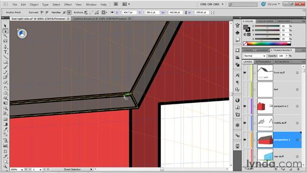 Rendering an off-plane path in perspective: Illustrator CS5 One-on-One: Mastery