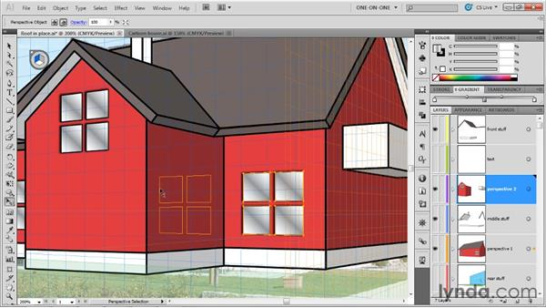 Replicating symbols in perspective: Illustrator CS5 One-on-One: Mastery