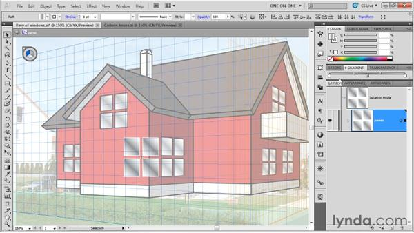 Mass-modifying perspective instances: Illustrator CS5 One-on-One: Mastery