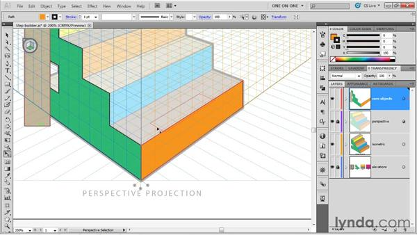Duplicating perpendicular shapes: Illustrator CS5 One-on-One: Mastery