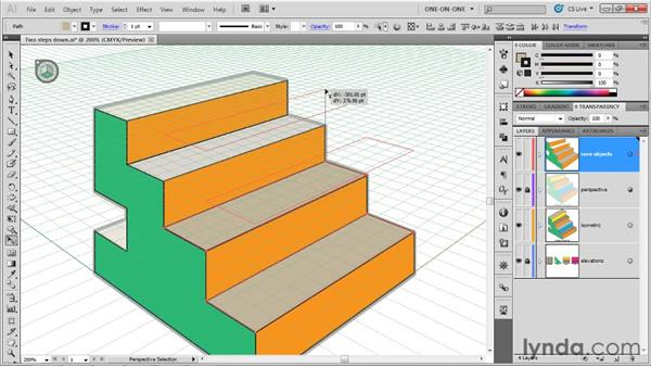 Adjusting multiple shapes on a single plane: Illustrator CS5 One-on-One: Mastery