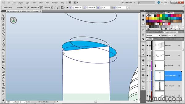 Creating a perspective column: Illustrator CS5 One-on-One: Mastery