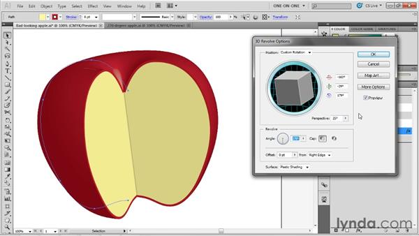 Fixing 3D rendering problems: Illustrator CS5 One-on-One: Mastery