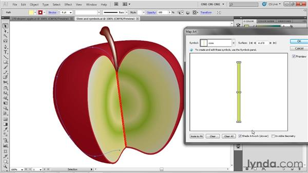 Mapping symbols onto 3D surfaces: Illustrator CS5 One-on-One: Mastery