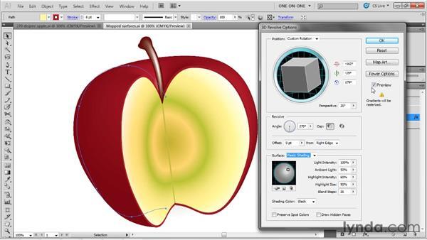 Adjusting shading and light: Illustrator CS5 One-on-One: Mastery