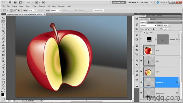 Toning down 3D art in Photoshop: Illustrator CS5 One-on-One: Mastery