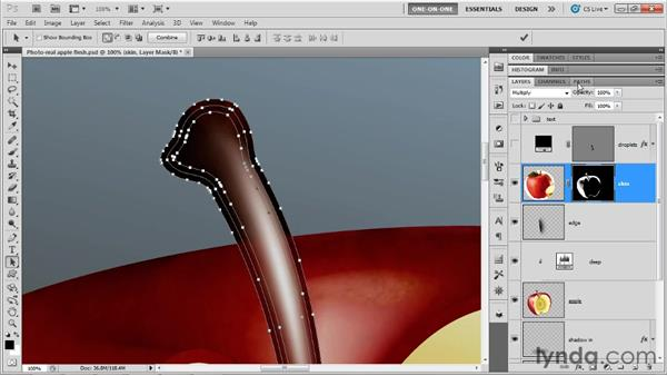 Converting from Illustrator paths to Photoshop masks: Illustrator CS5 One-on-One: Mastery