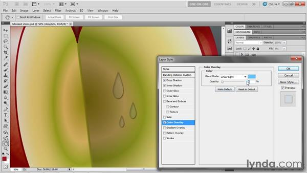 Making 3D droplets in Photoshop: Illustrator CS5 One-on-One: Mastery