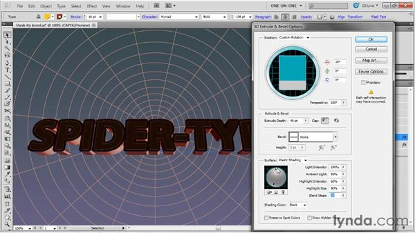 Coloring and correcting extruded edges: Illustrator CS5 One-on-One: Mastery