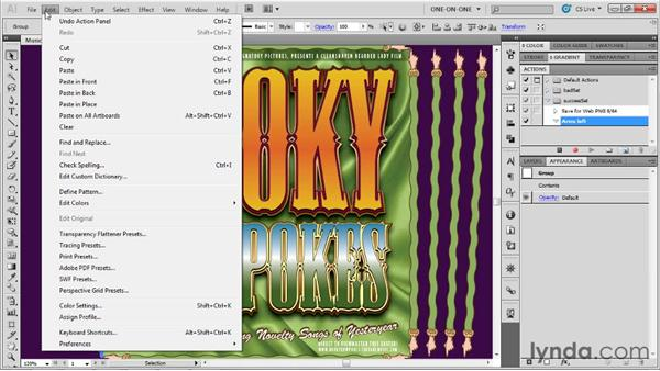 Recording a transformation sequence: Illustrator CS5 One-on-One: Mastery