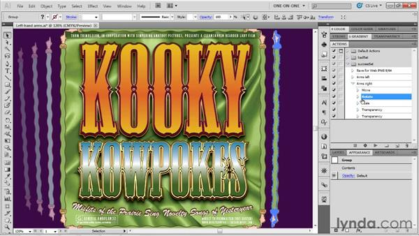 Editing and troubleshooting an action: Illustrator CS5 One-on-One: Mastery