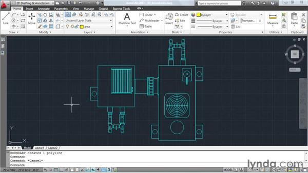 Generating boundaries from difficult shapes: AutoCAD: Tips, Tricks, and Industry Secrets