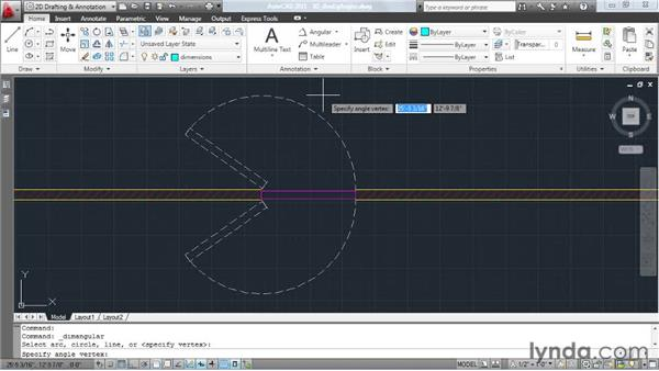 Dimensioning angles greater than 180 degrees: AutoCAD: Tips, Tricks, and Industry Secrets