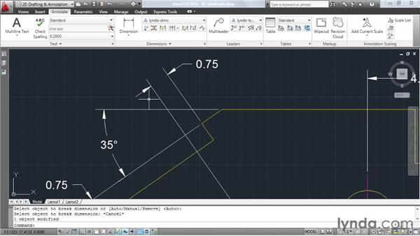 Creating dynamic dimension breaks: AutoCAD: Tips, Tricks, and Industry Secrets