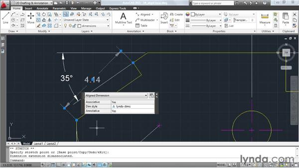 Making linear dimensions act like aligned dimensions: AutoCAD: Tips, Tricks, and Industry Secrets