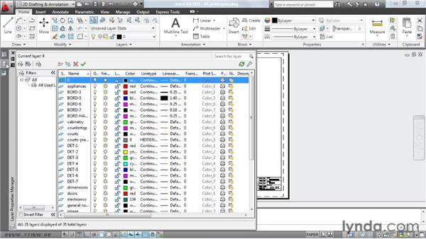Producing a hard copy of the layer settings: AutoCAD: Tips, Tricks, and Industry Secrets