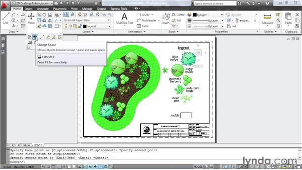 Creating legends using the Change Space tool: AutoCAD: Tips, Tricks, and Industry Secrets